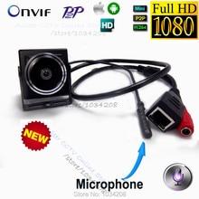 Indoor H.264 Onvif P2P 1080P Audio Video Camera MINI IP Camera Microphone Camera P2P Network For 1.78mm Fisheye Lens Wide Angle