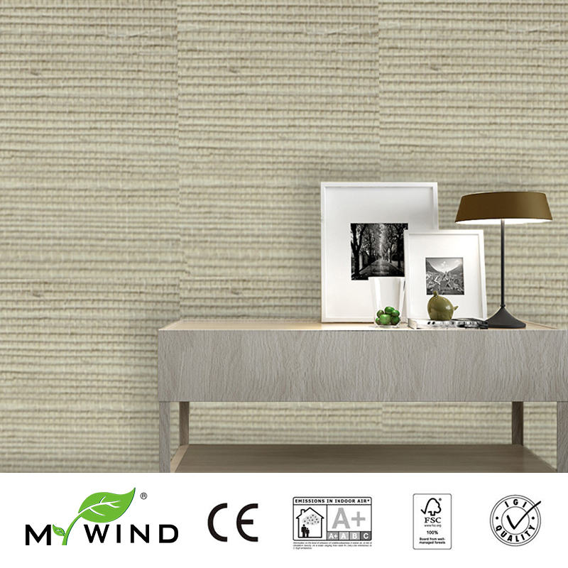 2019 MY WIND Grasscloth Luxury Wallpaper Sisal 3D Wallpapers Designs European Vintage Bedroom Decorative Wallpaper For Office