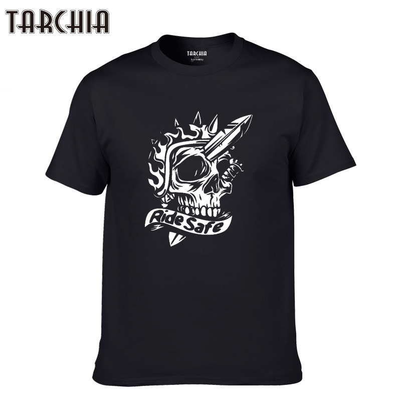 TARCHIA 2019 sketch of safe ride poster Top Spring Print Men Tees Tops Casual T Shirt Men Cotton Slim Fit T shirt Homme