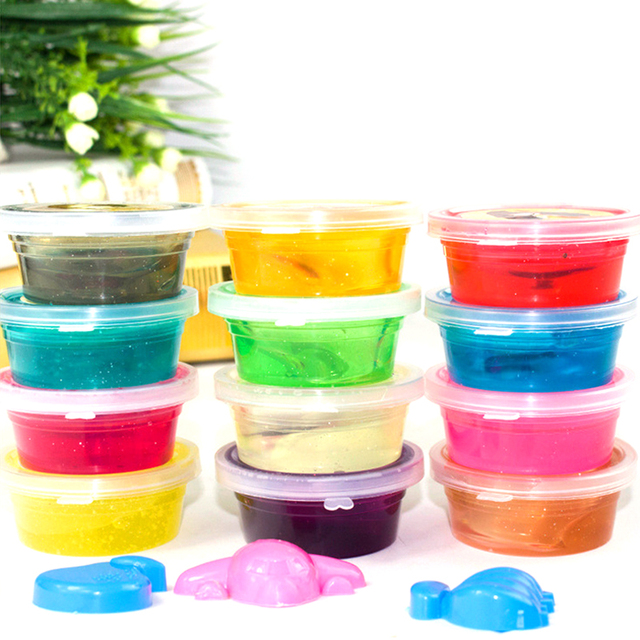 Intelligent Plasticine 12 Colors Light Clay 5D Crystal Fimo Polymer ...