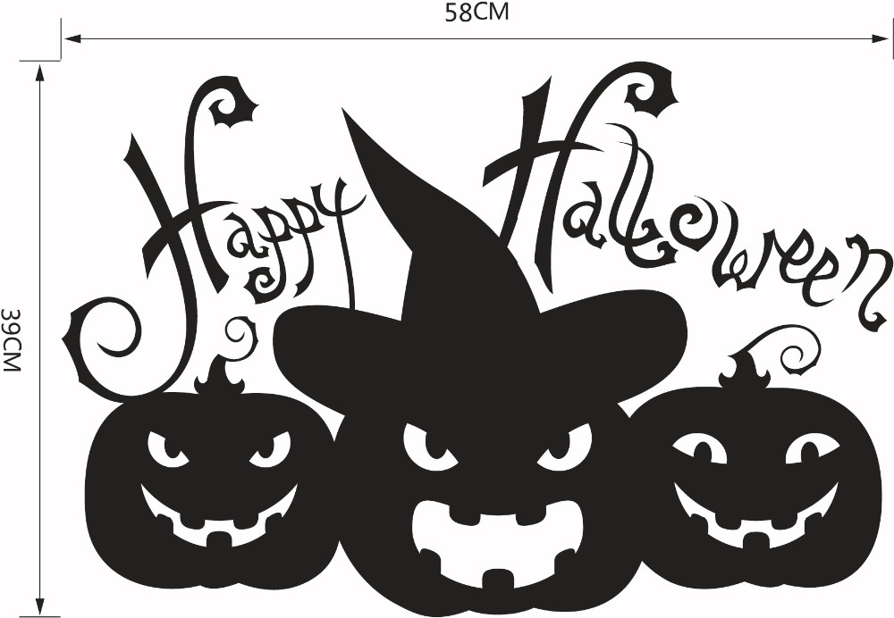 Aliexpresscom Buy Happy Halloween Pumpkins Black White Wall