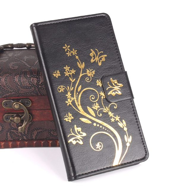 huge discount fab34 94c3b Aliexpress.com : Buy Brand HongBaiwei Gold Buttery Flower Printed Leather  Case For Oukitel K10000 K 10000 Case Flip Cover Housing Stand Cellphone bag  ...