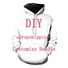 우리는 친애하는 고객 디자인을 받아 들인다 Anime/Photo/Star/Singer Pattern/DIY Hoodies 남성/여성 3D Print Streetwear Hoodie T112