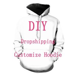 Image 1 - Kabul sevgili müşteri tasarım Anime/fotoğraf/yıldız/şarkıcı desen/DIY Hoodies erkekler/kadınlar 3D baskı Streetwear Hoodie T112