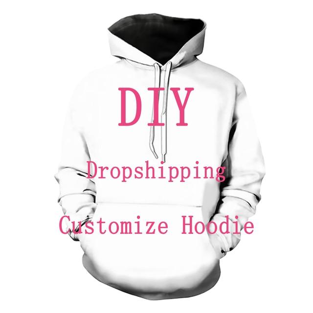 Kabul sevgili müşteri tasarım Anime/fotoğraf/yıldız/şarkıcı desen/DIY Hoodies erkekler/kadınlar 3D baskı Streetwear Hoodie T112