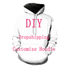 We Accept Dear Customer Design Anime/Photo/Star/Singer Pattern/DIY Hoodies Men/Women 3D Print Streetwear Hoodie T112