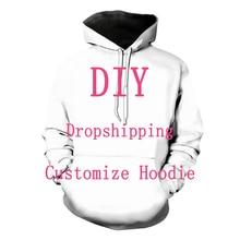 Wij Accepteren Geachte Klant Ontwerp Anime/Foto/Ster/Zanger Patroon/Diy Hoodies Mannen/Vrouwen 3D print Streetwear Hoodie T112
