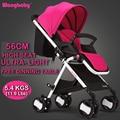 O Envio gratuito de Carrinho de Bebê Ultra-Luz Portátil Dobrável Carrinhos de Bebê Infantil Transporte Premium High-Paisagem Sentar Multi-função