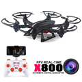 Frete grátis mjx x800 rc helicóptero quadcopter drones com c4010 wifi fpv hd camera vs syma x5sw/x400