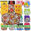 Gourd doll New BAMBOO CHARCOAL Washable Diaper pants Cloth Nappy Baby Diaper adjustable Baby Pocket Nappy Cloth Reusable Diaper