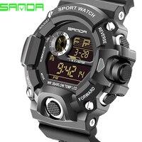 2016 SANDA Brand Men Digital Watch Fashion Male Big Size Watch Sports Watches LED Wristwatches Relogio