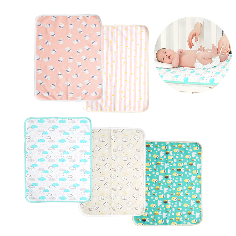 Muslinlife Waterproof Crib Mattress Cover Baby Diaper Changing Mat Breathable Baby Nappy Changing Pad Cot Sheet 50x70or70x114cm