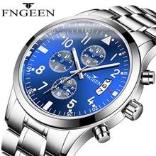 FNGEEN Watch Men LIGE Fashion Sport Quartz Clock Mens Top Brand Luxury Calendar Waterproof Relogio Masculino Dorp Shipping