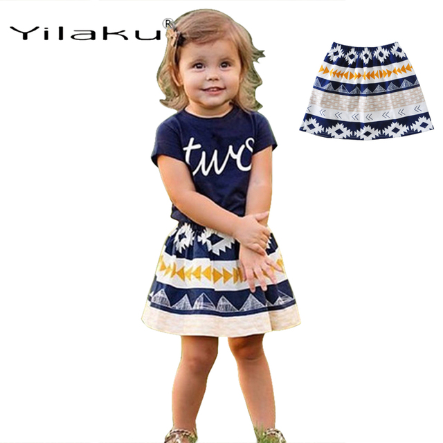 Yilaku Girls Skirts Fashion Kids Clothing Skirt Baby Girl Costume Summer Toddler Girl Clothing Short Dress CI512