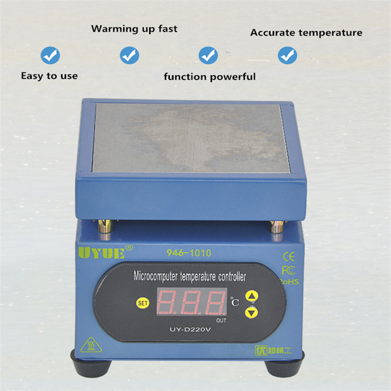 Temperature Split Phone Screen  100mm Plate Mobile Constant PCB  300W Preheating 220V Station Hot Heating 100mm Thermostat Table
