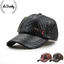 Back quickly fall and winter warm leather baseball cap mature men leisure outdoor sports golf cap in immediate recovery