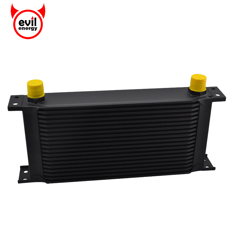 19 Row 10AN Aluminum Universal Black Engine Oil Cooler Kit Transmission Cooler Racing Oil Cooler Kit brand new oil cooler cover for 4be1 4bc2 4bf1 npr ks22 8 94438 371 0 oil cooler covers