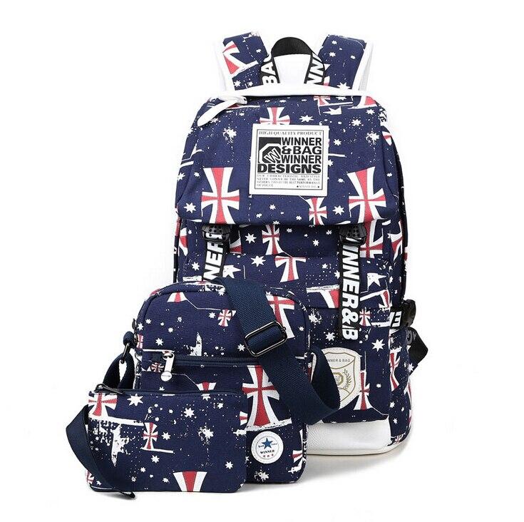 Printing Canvas Women Backpack rucksack 2016 travel bags laptop backpacks for teenage girls student school bags for teenagers кошельки бумажники и портмоне petek s15020 als 40