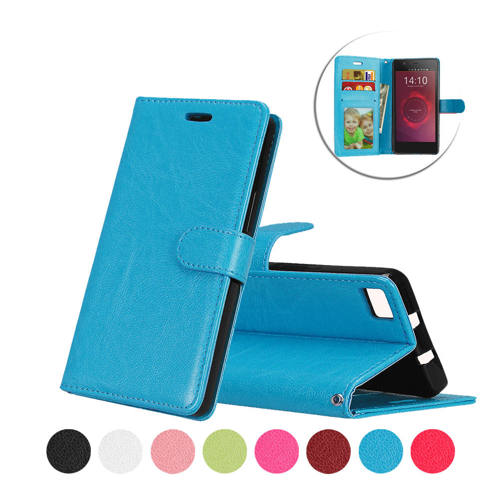 New PU Leather For BQ Aquaris M5 5.0inch Luxury Wallet Case Silicone Inside Cover With Stand Holder Shell Bag Plain Design Cover