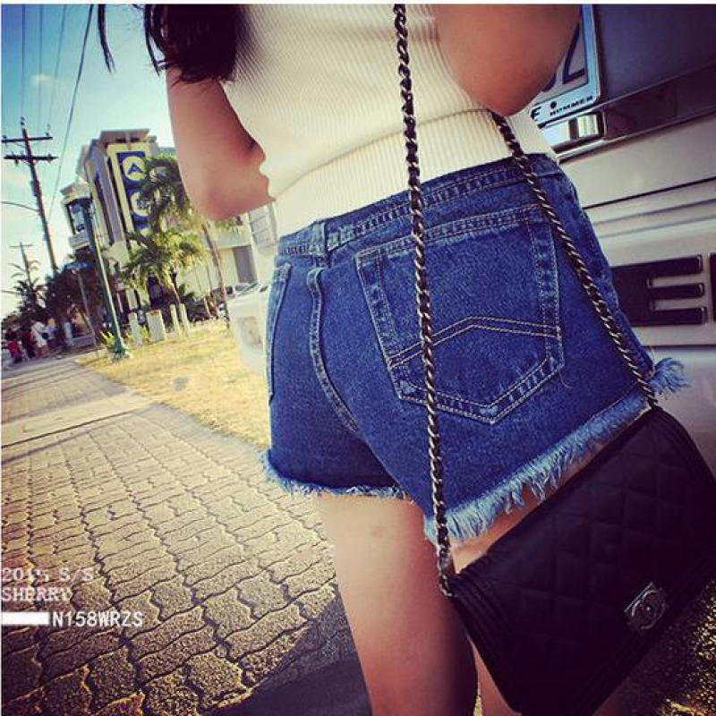 2016 New Summer Shorts Large Thin Waist Korean Flash Code Loose Casual Wide Leg Denim Shorts Female Pants Tide Free Shipping