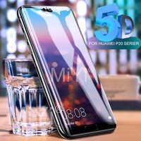 5D verre de protection incurvé pour Huawei P 20 Lite verre trempé pour Huawei P20 Pro Lite P20Lite P20pro Film de protection d'écran