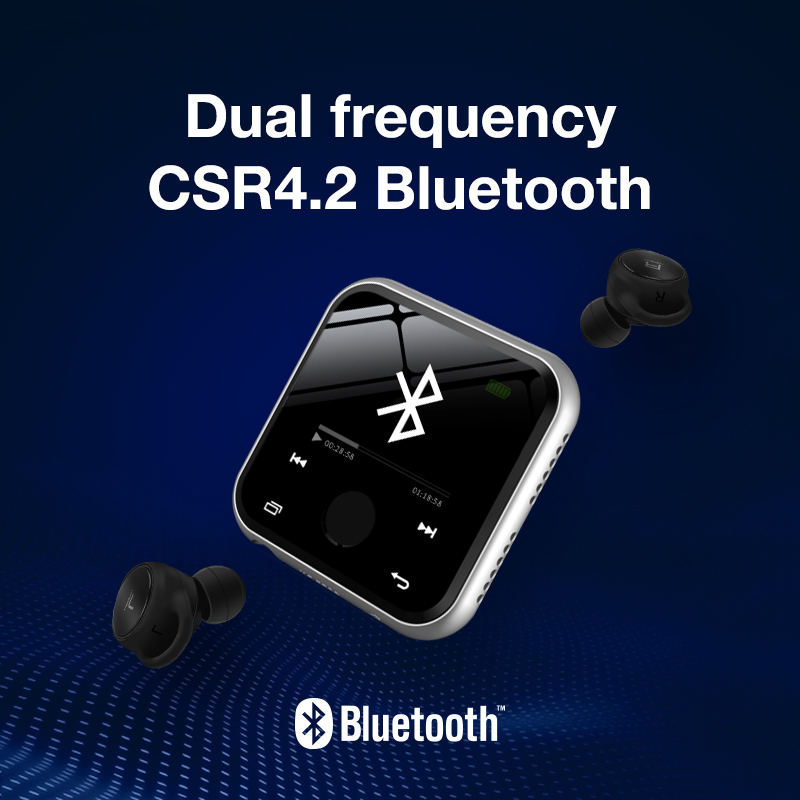 US $36 73 25% OFF|HBNKH R320 MP3 HIFI Player Bluetooth Mini Metal Video FM  Radio Voice Recorder 1 8 inch Touch Screen with Speaker support TF Card-in