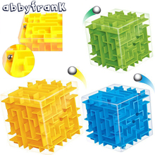 Abbyfrank Magic Cube 3D Maze Puzzles Magic Cubes Labyrinth Rolling Ball Educational Toys Puzzle Game Intelligence