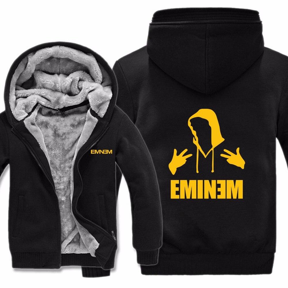 Men's Clothing Competent 2019 Eminem Hoodies Jacket Winter Pullover Man Coat Men Fashion Wool Liner Fleece Unisex Hip Hop Eminem Sweatshirts Hoody