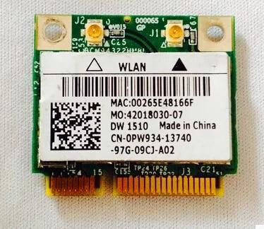 BroadCom BCM94322HM8L DW1510 Half Mini PCI-Express PCIe Wireless WLAN Wifi Card For Dell  E5400 E5500 E6400 E6500 M2400 M4400