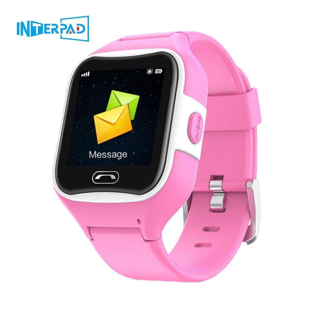Interpad étanche enfants montre intelligente GPS localisation Tracker antil-perdu Smartwatch bébé 2G horloge appel Smartwatch PK Q50 Q90 Q528