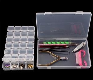 Image 5 - 28 Grids Diamond Painting kits  Plastic Storage Box Nail Art Rhinestone Tools Beads Storage Box Case Organizer Holder kit GYH
