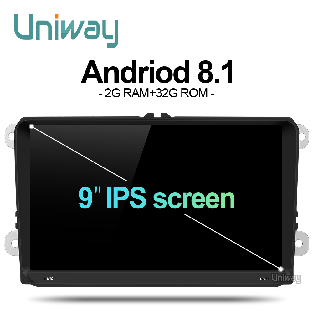 uniway ADZ9071  android 8.1 car dvd for vw passat b6 b7 golf 5 6 tiguan polo octavia rapid fabia multimedia navigation player Toyota Land Cruiser