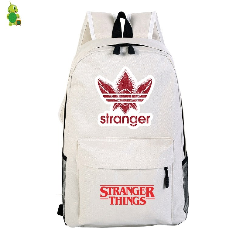 New Mochila Stranger Things Backpack School Bags For Teenagers Boys Girls Solid Laptop Backpack Casual Travel Shoulder Bags