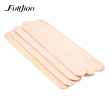 Fulljion 10Pcs/Set Wooden Spatula Hair Removal Cream Stick Wax Waxing Disposable Bamboo Sticks Body Hair Epilation Beauty Tools