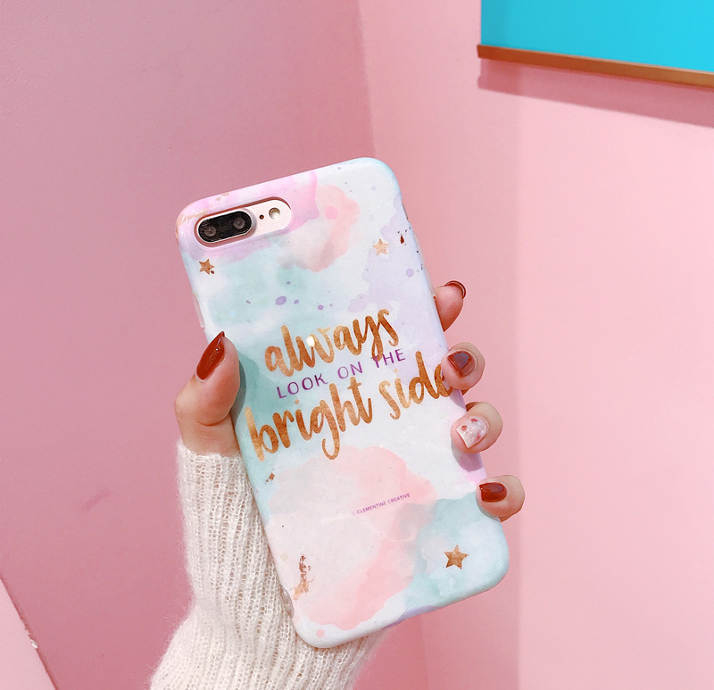Hepu Fresh girl Gradient for Apple iphone X Mobile Shell iPhone786splus Summer pink English All inclusive Soft case