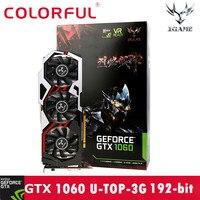 Colorful GTX1060 U 3GD5 TOP1594 1809 8008MHz 192bit Gaming Video Graphics Card Td0330 DropShip