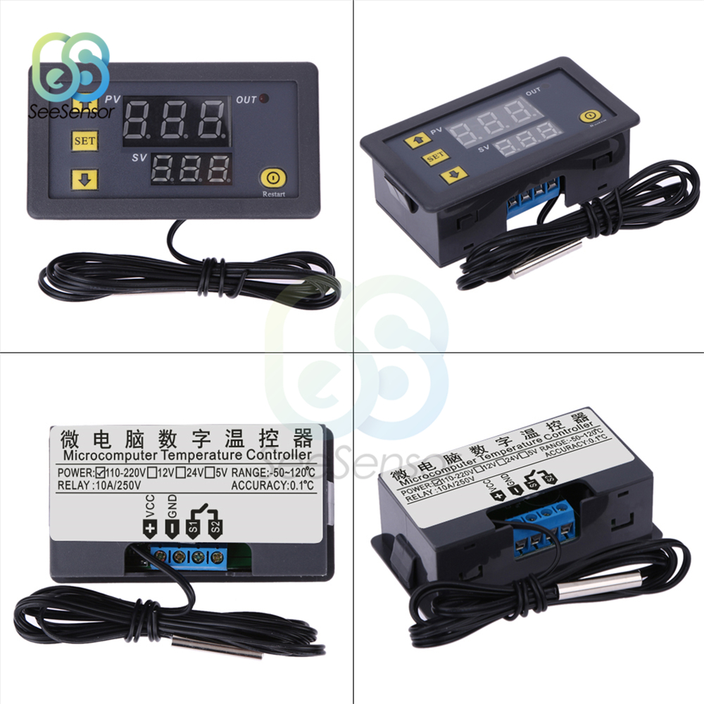 50-110℃ Digital Thermostat Cool Heat Temperature Controller Thermomet ae Dc 12V
