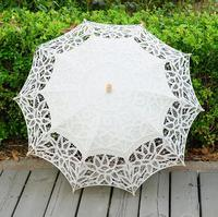 10pcs Lot Handmade Wedding Battenburg Lace Parasol Umbrella Wedding Favors Mix Color White Beige Red Purple