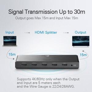 Image 4 - Ugreen HDMI 2.0 Splitter UHD 4K/60Hz HDR Adapter HDMI 1x 4/1x2 HDMI 1 wejście 4 konwerter wyjściowy dla PS4/3 HDTV rozdzielacz HDMI