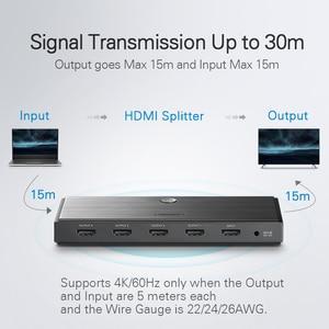 Image 4 - Ugreen HDMI 2,0 сплиттер UHD 4K/60 Гц HDR HDMI адаптер 1x 4/1x2 HDMI 1 вход 4 выхода конвертер для PS4/3 HDTV HDMI сплиттер