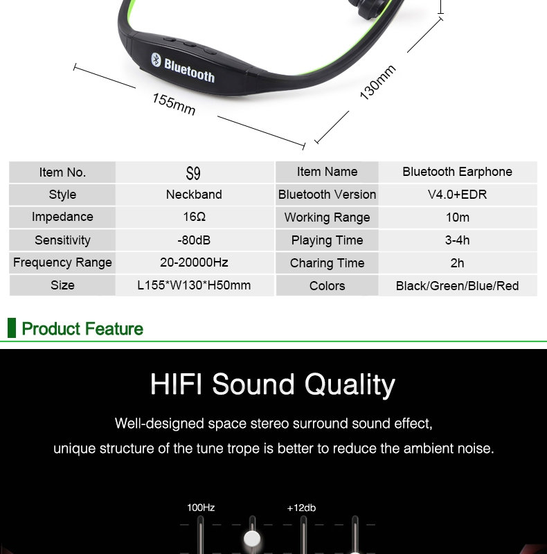 Wireless Bluetooth Earphones with Microphone Neckband Headphones for Mobile Phone Sweatproof Bluetooth Headset for Xiaomi iPhone (2)