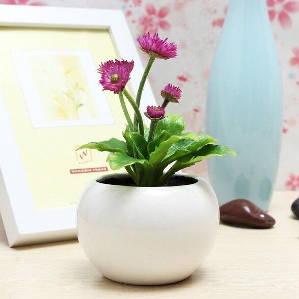Superieur Decorative Flowers Potted Planters Artificial Plants Office Desk Decor