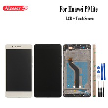 Per Huawei P9 lite Display LCD + Touch Screen Con Telaio E Telaio Anteriore Digitizer 5.2 pollici Per Huawei P9 lite Del Telefono Mobile