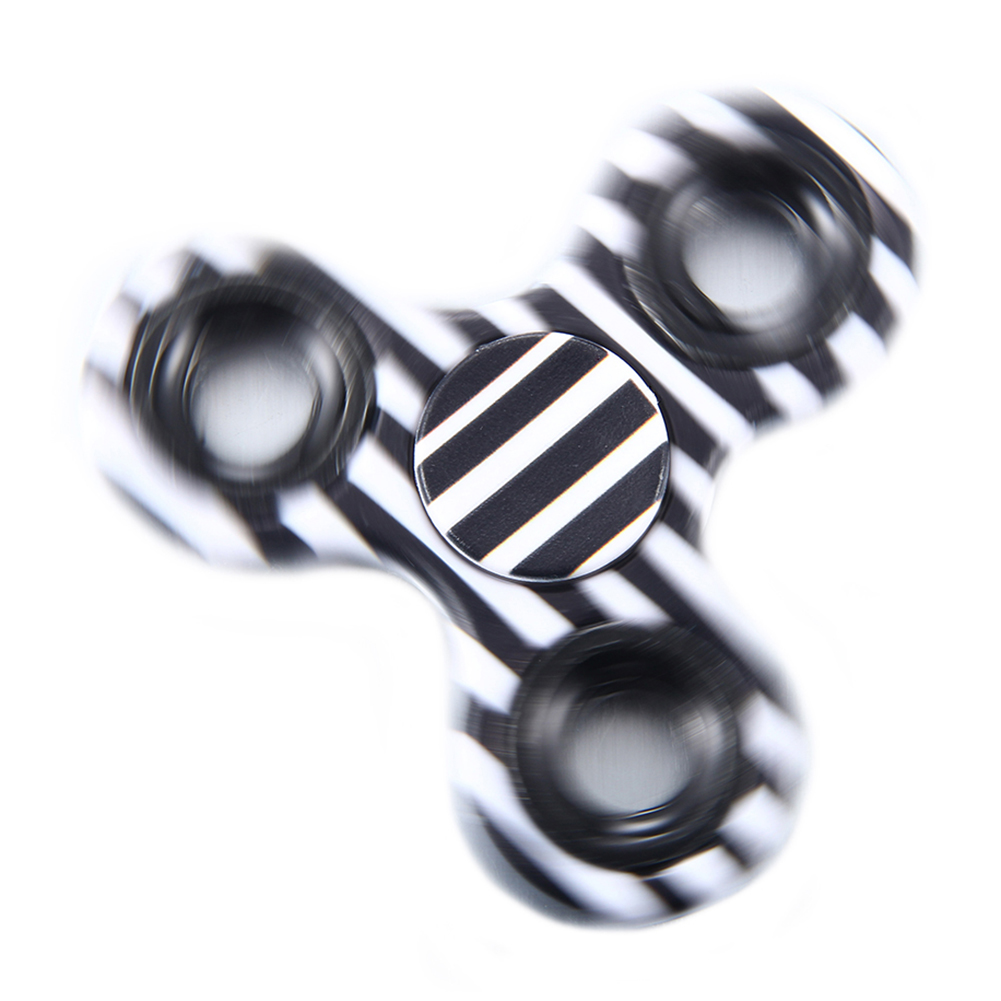 Colorful Black and White Spe Hand Spinner EDC Fidget Stress Relief Toy Kids