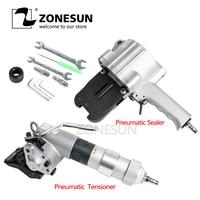 ZONESUN New KZS-40/32 Penumatic Steel band packing Tools Pneumatic steel band Sealer and tensioner