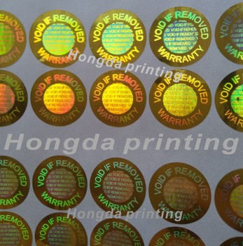 520 pieces / lot Hologram VOID IF REMOVED Security Tamper Evident Warranty Stickers 1