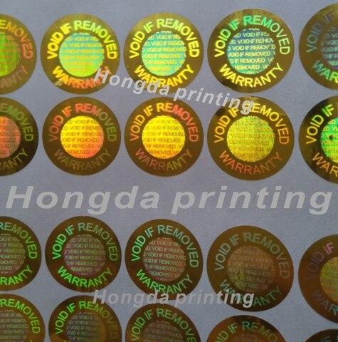 520 pecas lote holograma vazio se removido