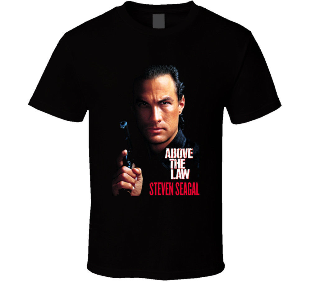 Above The Law Steven Seagal Action Movie Men's Black T-Shirts Short Sleeve Plus Size t-shirt image