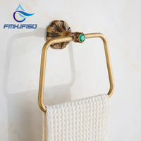 Antique Brass Bathroom Towel Ring Wall Mounted Towel Rack Holder High Quality