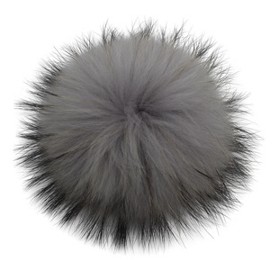 Image 5 - 5pcs/lot DIY 13cm 15cm Raccoon Fur Pompoms for Knitted Winter Hat Cap Real Fox Pom Poms For Beanies Scarves Real fur Pompons